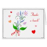 Agradece una tarjeta floral del manojo