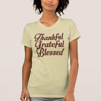 Agradecido agradecido bendecido camiseta