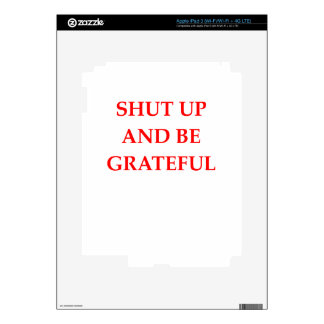 AGRADECIDO iPad 3 SKIN