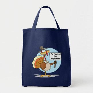 Agradecido para el bolso de ultramarinos de los ve bolsas lienzo