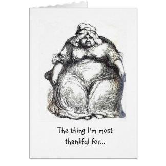 Agradecido para el elástico tarjeta de felicitación