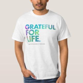 Agradecido para la camisa de la vida