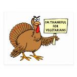 Agradecido para los vegetarianos tarjeta postal