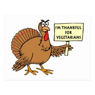 Agradecido para los vegetarianos postal