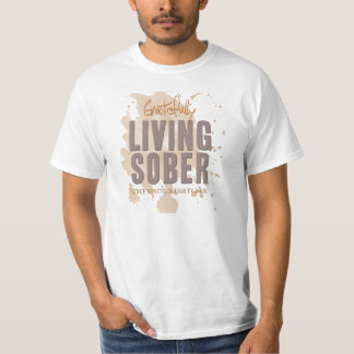 Agradecido personalizable sobrio vivo remera