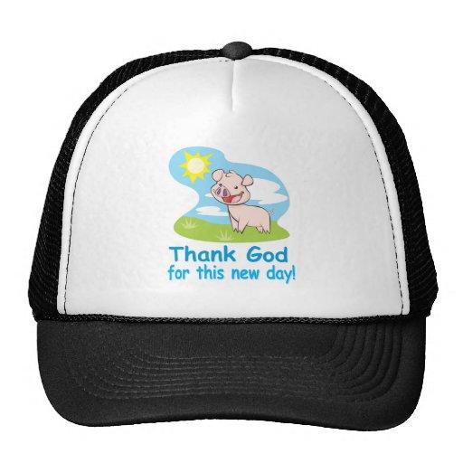 Agradecimiento de dios por este nuevo día con el c gorros bordados