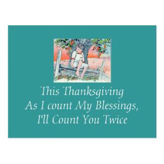 Agradecimiento de la postal de dios