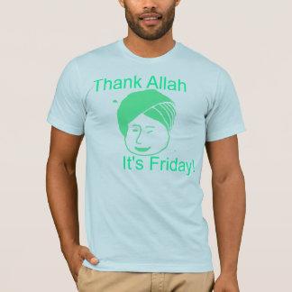 Agradezca a Alá que es viernes Playera