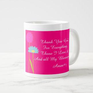 ¡Agradezca a dios 4 todo taza! ~ de cerámica Taza Grande