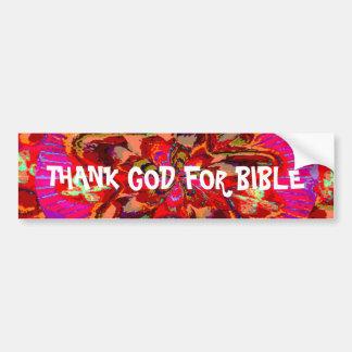 Agradezca a DIOS por biblia Pegatina Para Auto