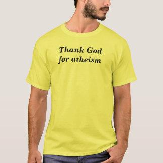 Agradezca a dios por el ateísmo playera