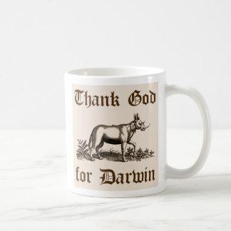 Agradezca a dios por la taza de Darwin