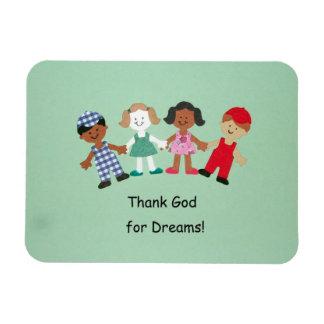 ¡Agradezca a dios por sueños! Imán De Vinilo