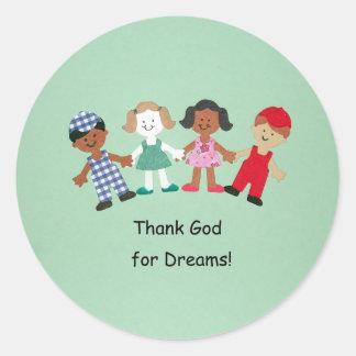 ¡Agradezca a dios por sueños! Pegatinas Redondas