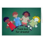 ¡Agradezca a dios por sueños! Tarjeta