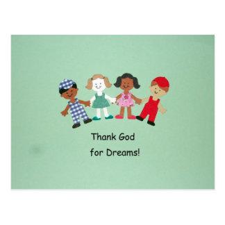 ¡Agradezca a dios por sueños! Tarjetas Postales