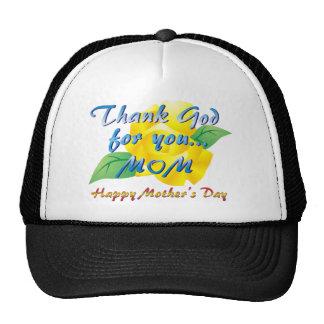 Agradezca a dios por usted, mamá gorras de camionero