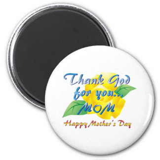 Agradezca a dios por usted, mamá imanes de nevera