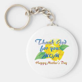 Agradezca a dios por usted, mamá llaveros