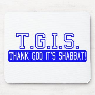 ¡Agradezca a dios que es Shabbat! Tapete De Raton