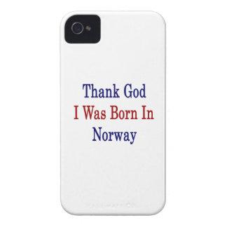 Agradezca a dios que nací en Noruega iPhone 4 Cárcasas