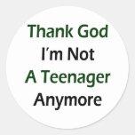 Agradezca a dios que no soy un adolescente más pegatina redonda