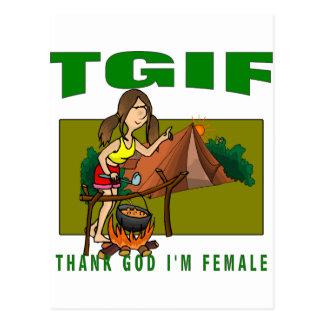 Agradezca a dios que soy femenino tarjeta postal