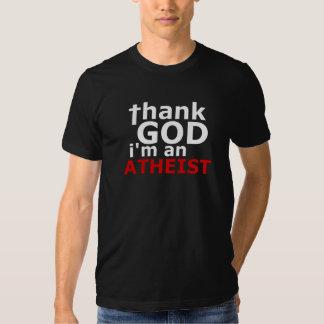Agradezca a dios que soy un ateo (American Remeras