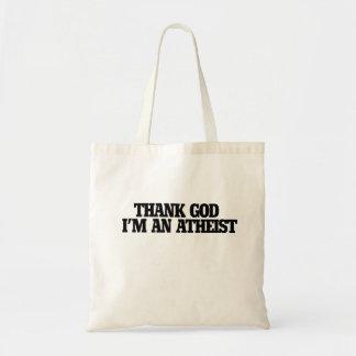 Agradezca a dios que soy un ateo bolsa tela barata