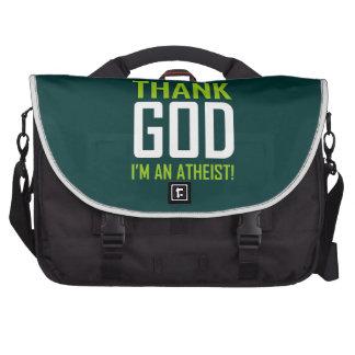 Agradezca a dios que soy un ateo bolsas para portatil