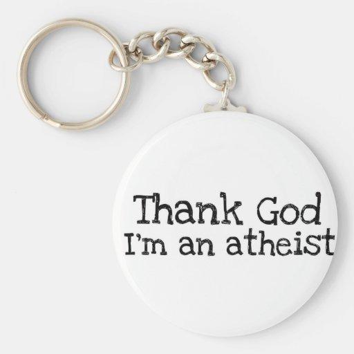 Agradezca a dios que soy un ateo llaveros