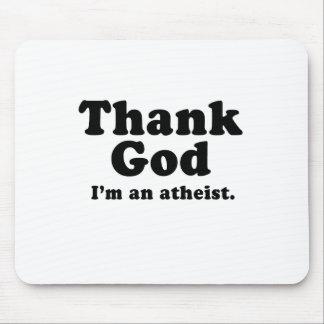 Agradezca a dios que soy un ateo alfombrillas de raton