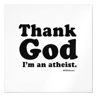 Agradezca a dios que soy un ateo