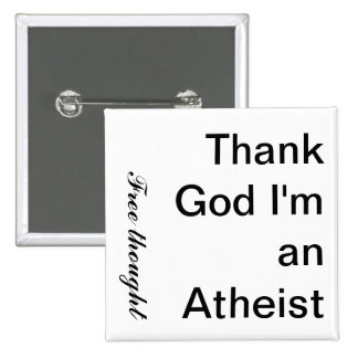 Agradezca a dios que soy un pensamiento ateo, libr pin cuadrado