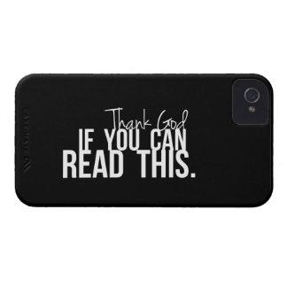 Agradezca a dios si usted puede leer esto iPhone 4 cárcasa