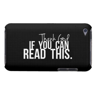 Agradezca a dios si usted puede leer esto iPod touch Case-Mate funda