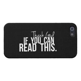 Agradezca a dios si usted puede leer esto iPhone 5 carcasas