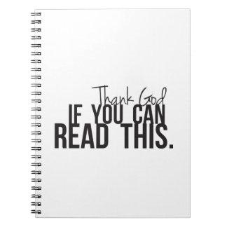 Agradezca a dios si usted puede leer esto libros de apuntes