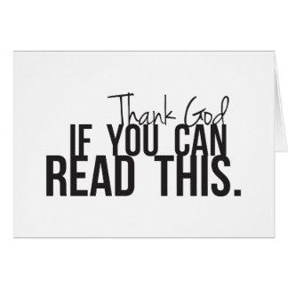 Agradezca a dios si usted puede leer esto tarjetas