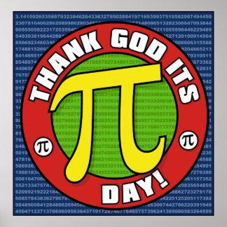 Agradezca a dios su poster del día del pi