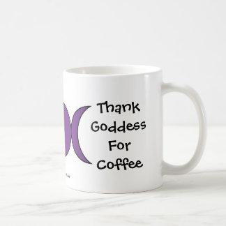 Agradezca a la diosa por el café - una taza/una ta