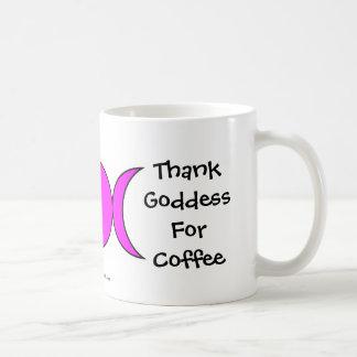 Agradezca a la diosa por el café - una taza/una taza de café