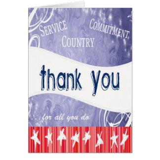 Agradezca a nuestras tropas tarjeta de felicitación