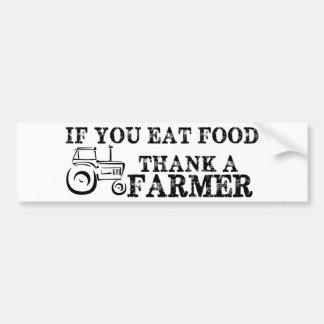 Agradezca a un granjero etiqueta de parachoque