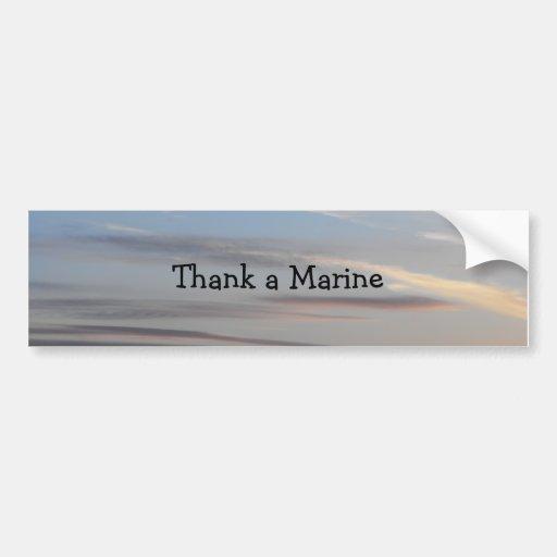 Agradezca a un infante de marina - 2 pegatina para auto