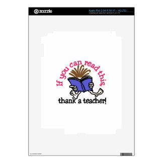 Agradezca a un profesor iPad 3 skins
