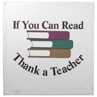 Agradezca a un profesor servilleta