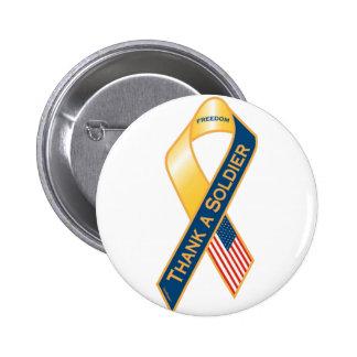 Agradezca a un soldado pin