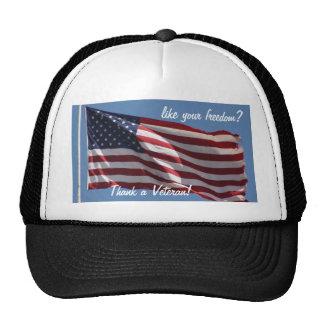 ¡Agradezca a un veterano! Gorras