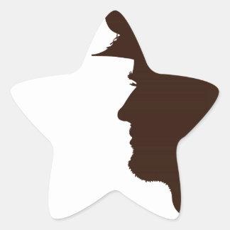 Agradezca a un veterano pegatina en forma de estrella